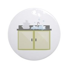 Clean Dishes Ornament (Round)