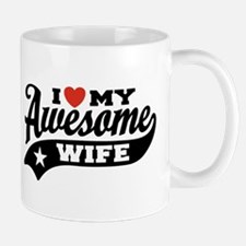 I Love My Awesome Wife Small Mugs