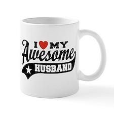 I Love My Awesome Husband Small Mug