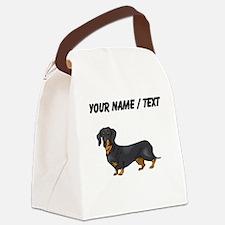 Dachshund (Custom) Canvas Lunch Bag