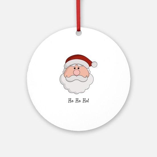 Santa Season Customizable Round Ornament