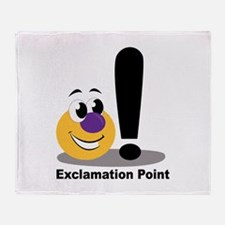 Exclamation Point Throw Blanket
