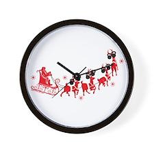Reindeer Games Small Wall Clock
