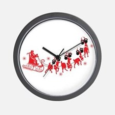 Reindeer Games Small Wall Clock