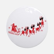 Reindeer Games Small Ornament (Round)