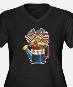 This Old Watering Can Women's Plus Size V-Neck Dar