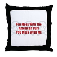 Mess With Curl Throw Pillow