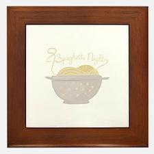 Spaghetti Night Framed Tile