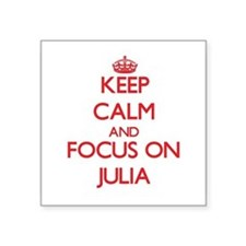 "Cute Julia Square Sticker 3"" x 3"""
