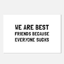 Best Friends Everyone Sucks Postcards (Package of