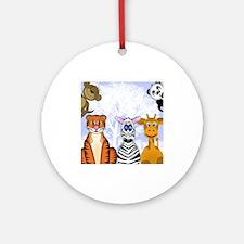 Zoo Animals Ornament (Round)