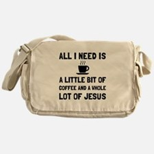 Coffee And Jesus Messenger Bag