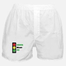 Green Means Go Boxer Shorts