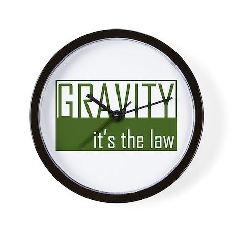 Gavity, It's The Law Wall Clock