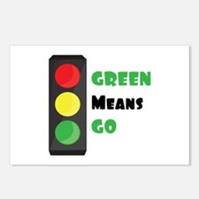 Green Means Go Postcards (Package of 8)