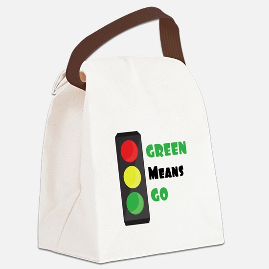Green Means Go Canvas Lunch Bag