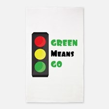 Green Means Go Area Rug