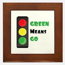 Green Means Go Framed Tile