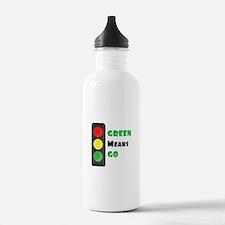 Green Means Go Water Bottle