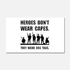 Heroes Wear Dog Tags Car Magnet 20 x 12