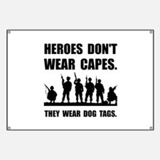 Heroes Wear Dog Tags Banner