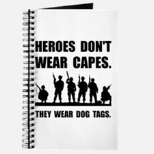 Heroes Wear Dog Tags Journal