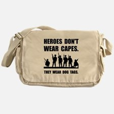 Heroes Wear Dog Tags Messenger Bag