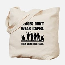 Heroes Wear Dog Tags Tote Bag