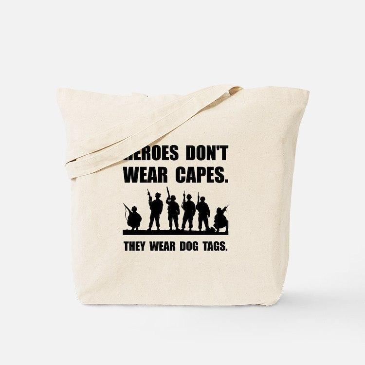Heroes Wear Dog Tags Tote Bag