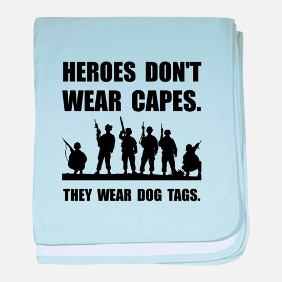 Heroes Wear Dog Tags baby blanket