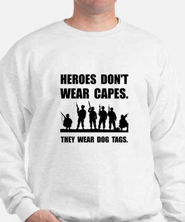 Heroes Wear Dog Tags Sweatshirt
