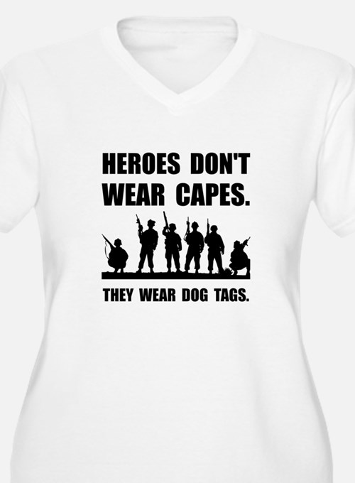 Heroes Wear Dog Tags Plus Size T-Shirt
