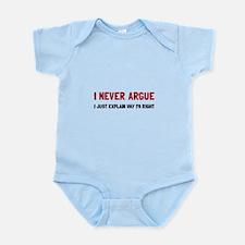 I Never Argue Body Suit