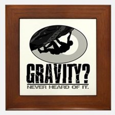 Gravity? Rock Climber Framed Tile