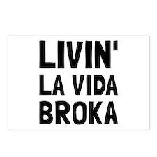 Living La Vida Broka Postcards (Package of 8)