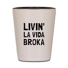 Living La Vida Broka Shot Glass