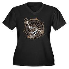 Motocross St Women's Plus Size V-Neck Dark T-Shirt