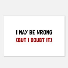May Be Wrong Postcards (Package of 8)