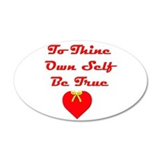 To Thine Own Self Be True Wall Decal