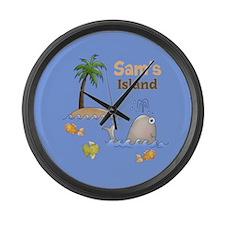 Kids Island Large Wall Clock