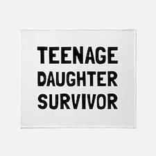 Teenage Daughter Survivor Throw Blanket