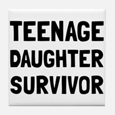 Teenage Daughter Survivor Tile Coaster