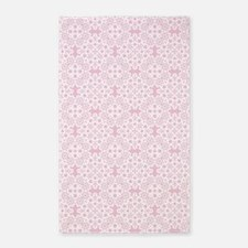 Baby Pink & White Lace 2 Area Rug