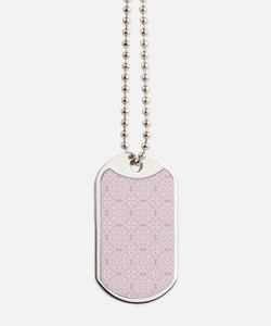 Baby Pink & White Lace 2 Dog Tags
