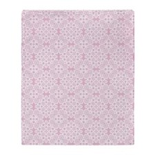 Baby Pink & White Lace 2 Throw Blanket