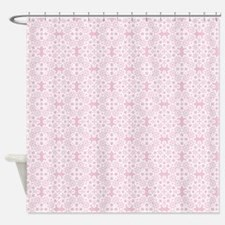 Baby Pink & White Lace 2 Shower Curtain