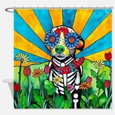 Day of the dead wedding Shower Curtain
