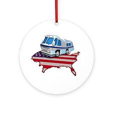 American RV Ornament (Round)