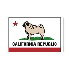 California Repuglic Rectangle Car Magnet