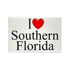 """I Love Southern Florida"" Rectangle Magnet"